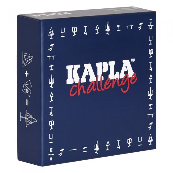 Kapla eco-friendly wooden challenge board game on a white background