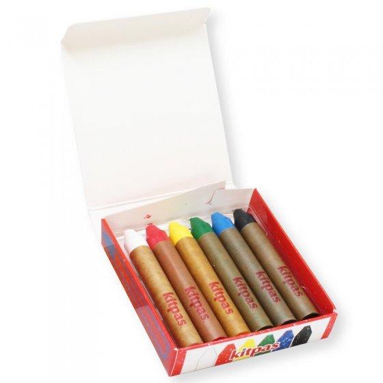 Kitpas Medium 6 Coloured Crayons