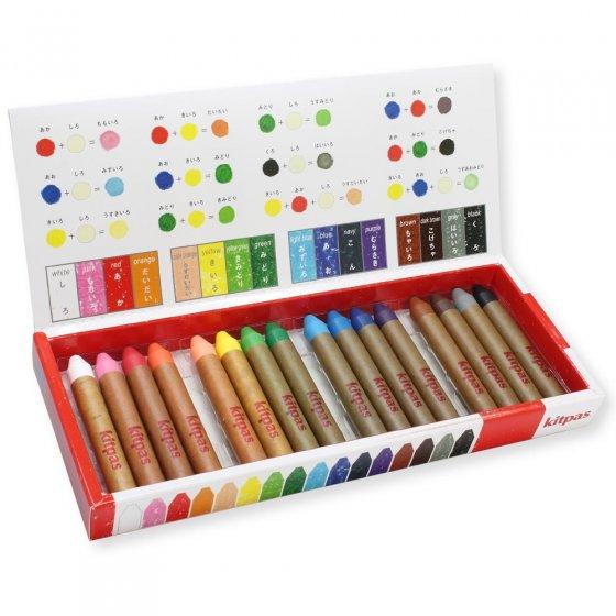 Kitpas Medium 16 Coloured Crayons