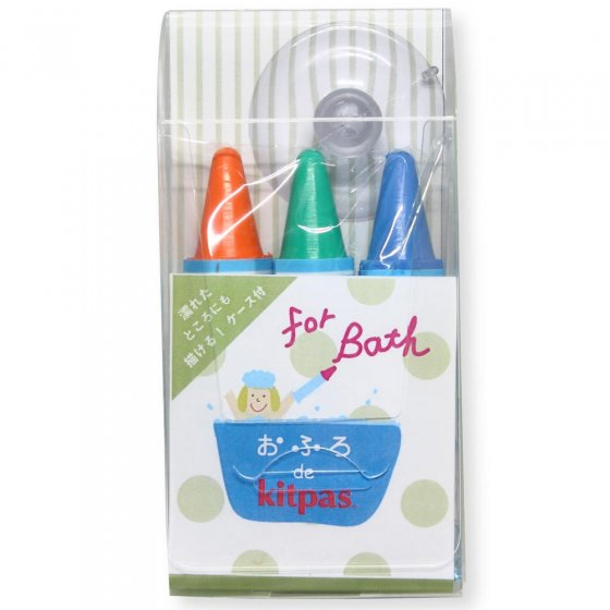 Kitpas Bath Coloured Crayons 3 Pack - Orange, Green, Blue