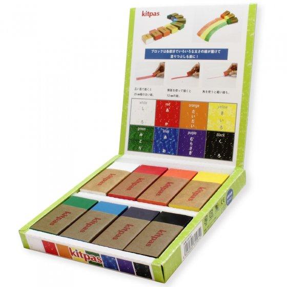 Kitpas 8 Colour Crayon Blocks