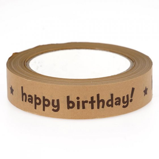 Babipur Kraft Happy Birthday Paper Tape