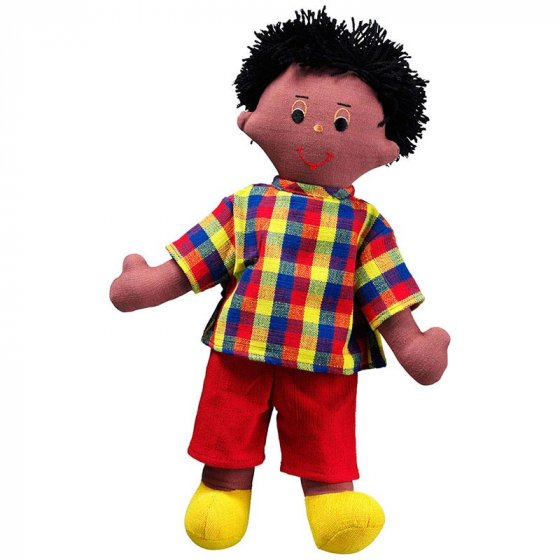 Lanka Kade Dad Doll - Black Skin, Black Hair