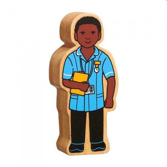 Lanka Kade sustainable wooden nurse toy on a white background