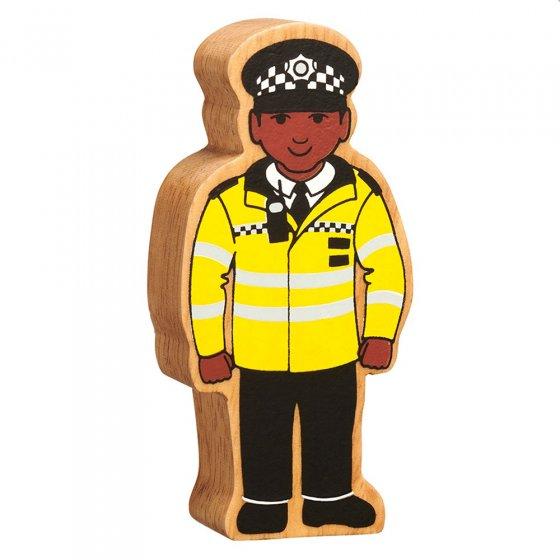 Lanka Kade sustainable wooden policeman figure on a white background