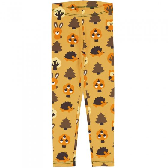Maxomorra Yellow Forest Leggings