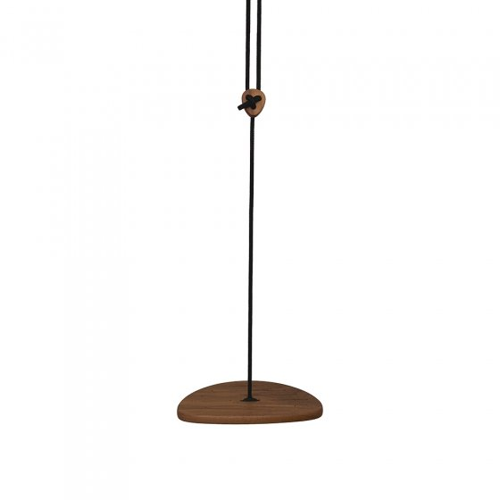 Lillagunga eco-friendly wooden disco rope swing on a white background