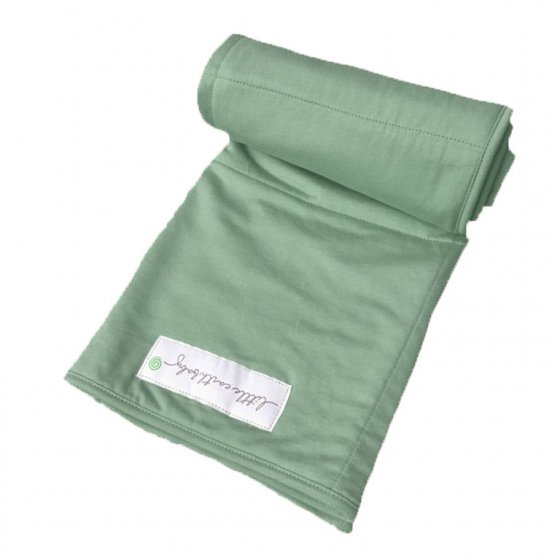 Pure Earth Collection Family Size Bamboo Baby Blanket - Emerald Green