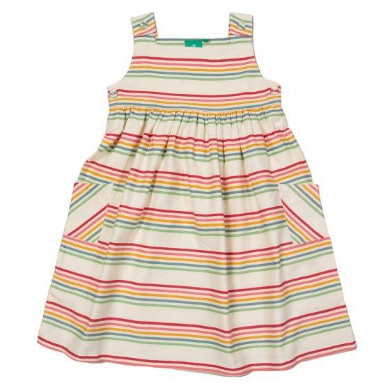 LGR Twill Rainbow Stripes Pinnie Dress