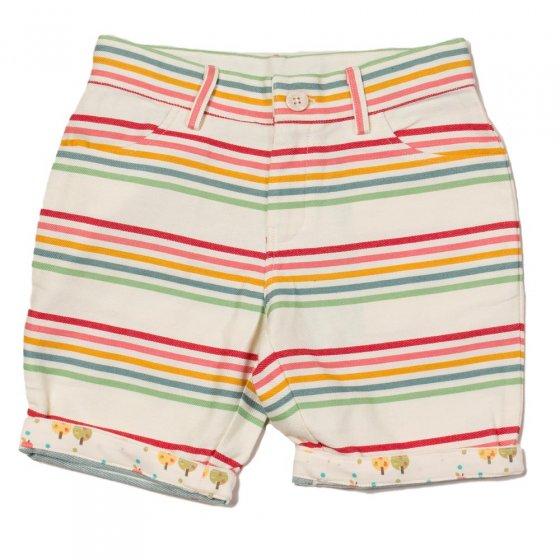 LGR Twill Rainbow Stripes Sunshine Shorts