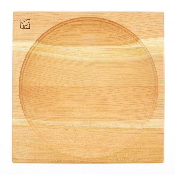 Mader cherry spinning plate on a white background