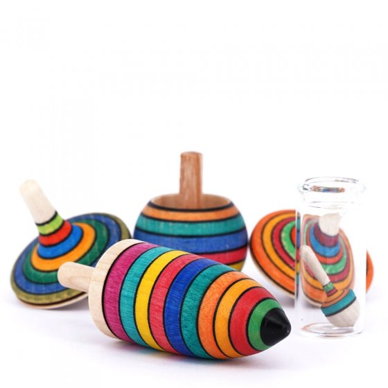 Mader Striped Spinning Top Learning Set