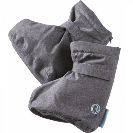 Mamalila Winter Booties in Ice Grey for babywearing. White background