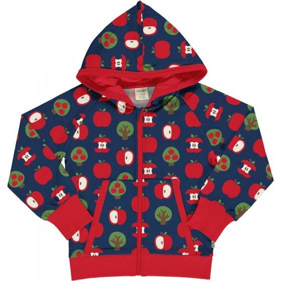 Maxomorra Apple Hooded Sweat Cardigan