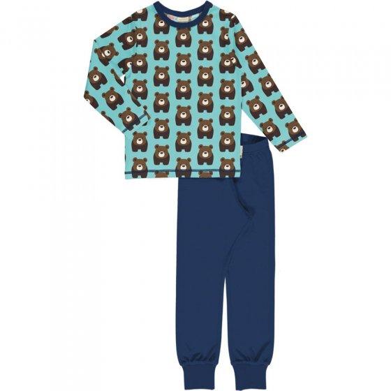 Maxomorra Bear LS Pyjama Set