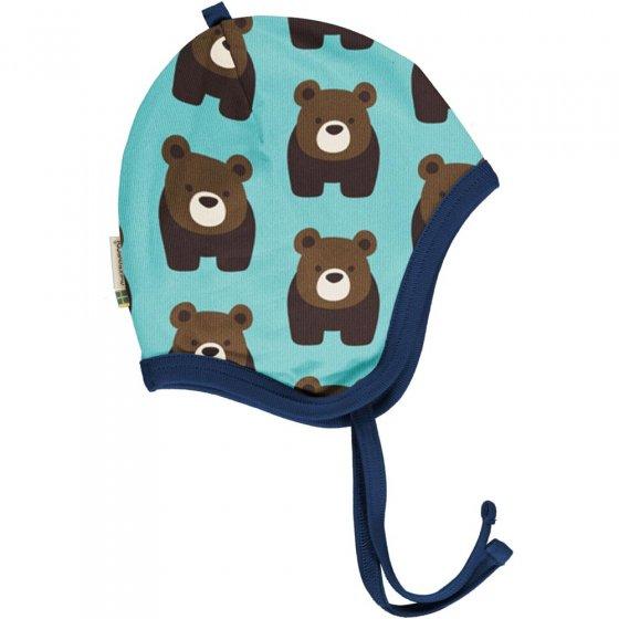 Maxomorra Bear Velour Helmet Hat