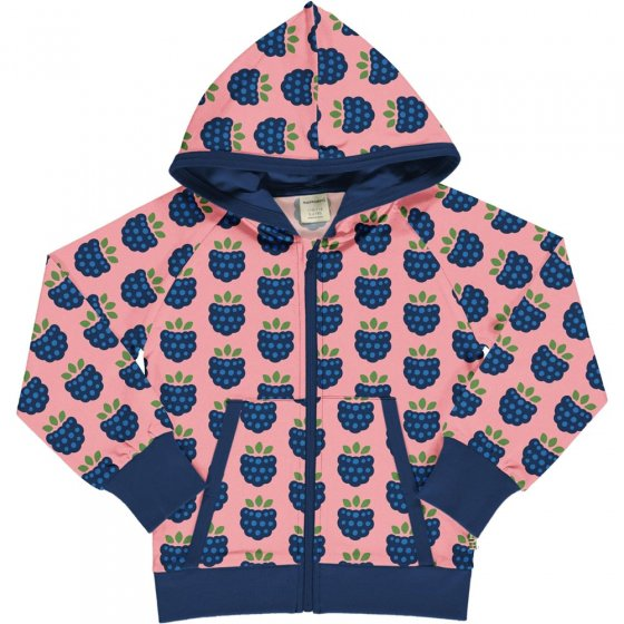 Maxomorra Blackberry Hooded Sweat Cardigan