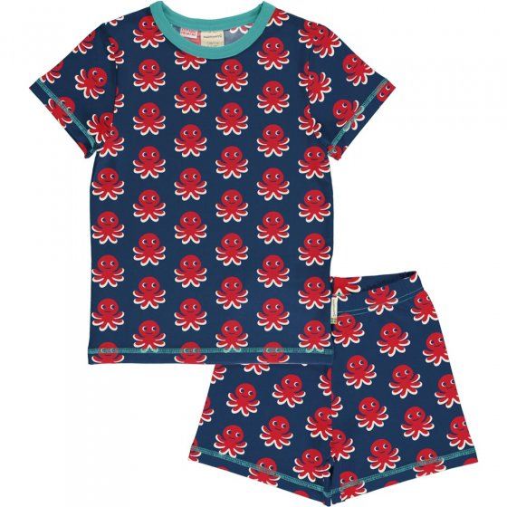 Maxomorra Octopus SS Pyjama Set