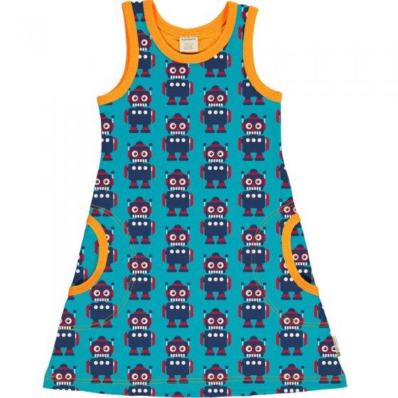 Maxomorra Classic Robot Sleeveless Dress