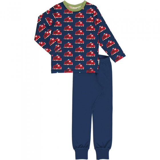 Maxomorra Fire Truck LS Pyjama Set