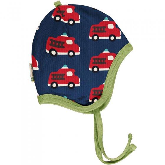 Maxomorra Fire Truck Velour Helmet Hat