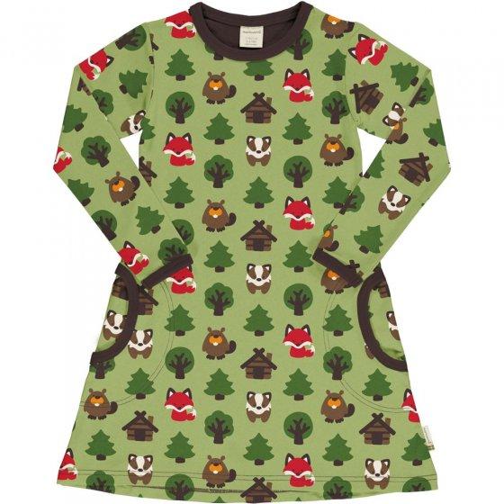 Maxomorra Green Forest LS Dress