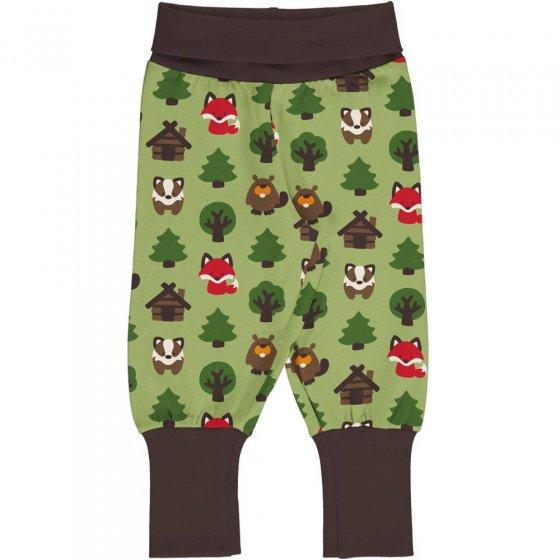 Maxomorra Green Forest Rib Pants