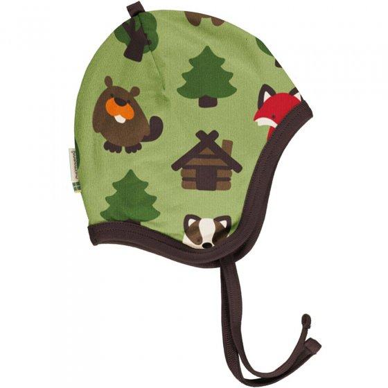 Maxomorra Green Forest Velour Helmet Hat
