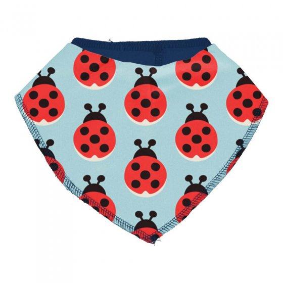 Maxomorra Lazy Ladybug Dribble Bib