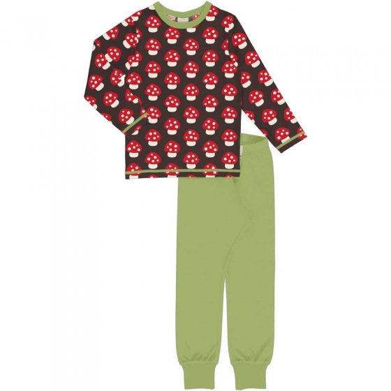 Maxomorra LS Mushroom Pyjama Set