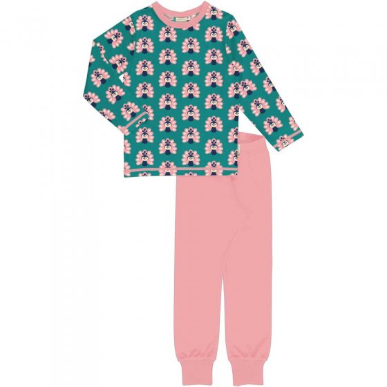 Maxomorra LS Peacock Pyjama Set