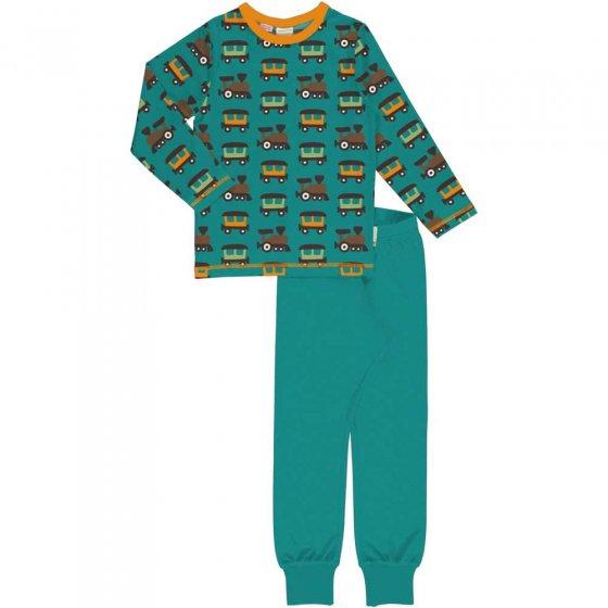 Maxomorra LS Train Pyjama Set