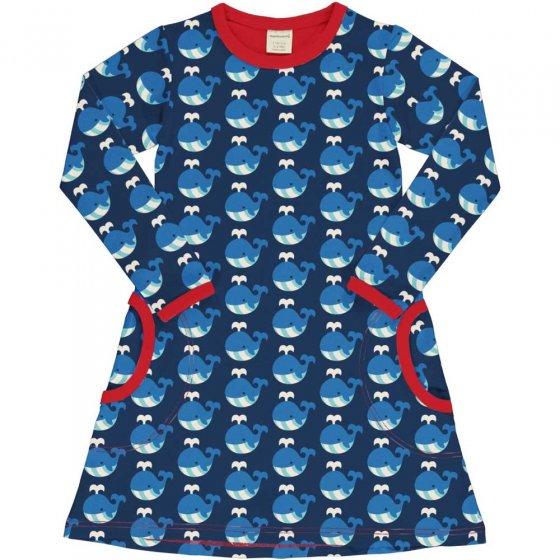 Maxomorra LS Whale Dress