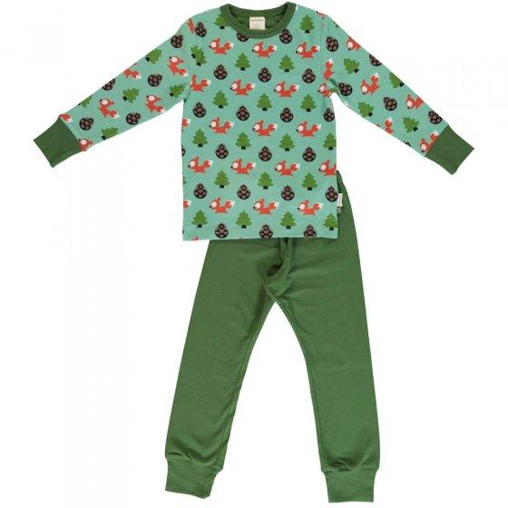 Maxomorra Busy Squirrel LS Pyjamas
