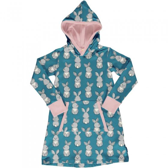 Maxomorra Rabbit Sweat Hoodie Dress