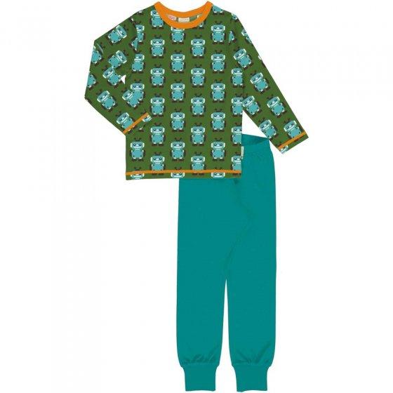 Maxomorra Robot LS Pyjama Set