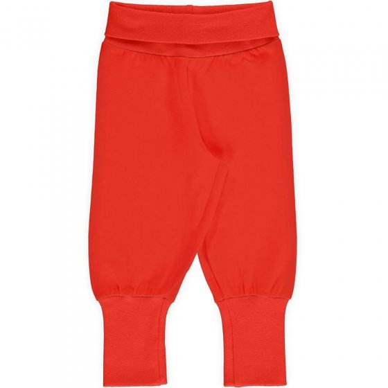 Maxomorra Solid Poppy Rib Pants