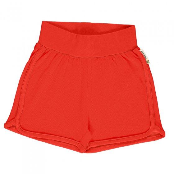 Maxomorra Solid Poppy Runner Shorts