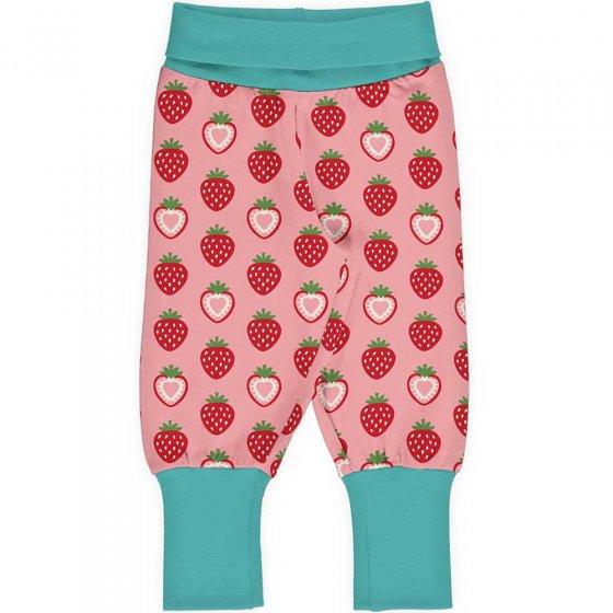 Maxomorra Strawberry Rib Pants