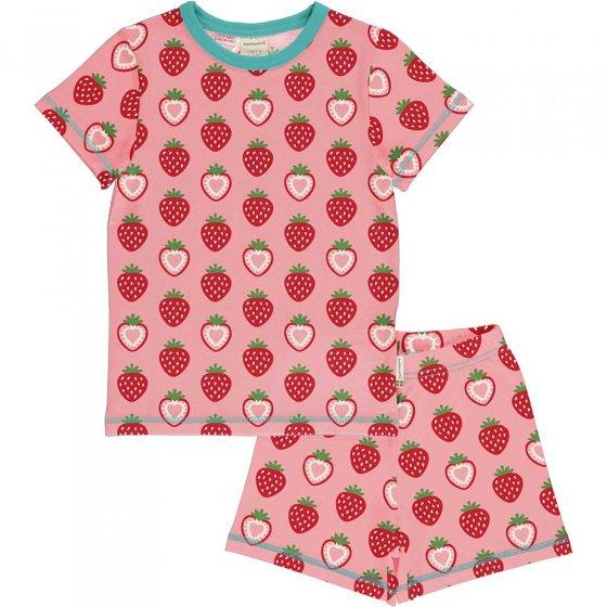 Maxomorra Strawberry SS Pyjama Set