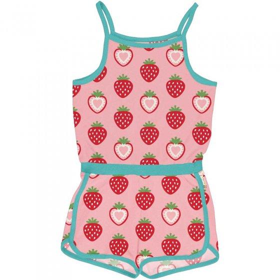 Maxomorra Strawberry Short Jumpsuit