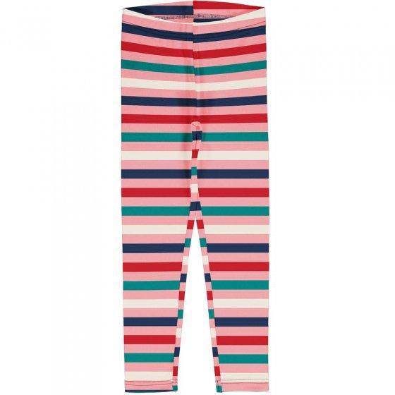 Maxomorra Stripe Blossom Leggings
