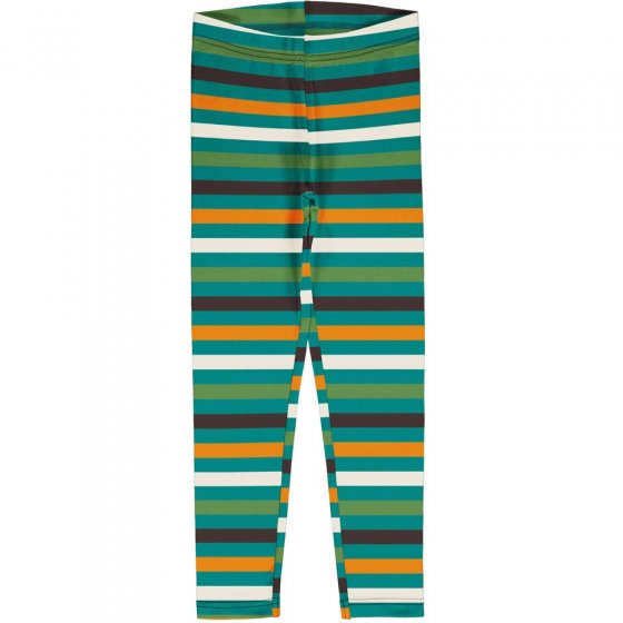 Maxomorra Stripe Lagoon Leggings