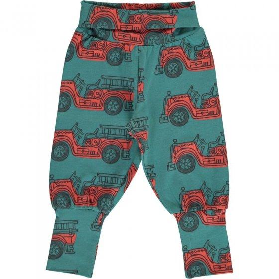 Maxomorra Vintage Fire Truck Rib Pants