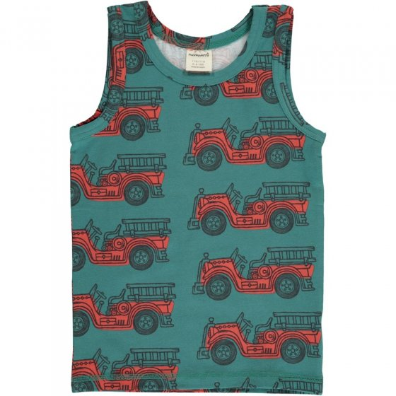 Maxomorra Vintage Fire Truck Tank Top