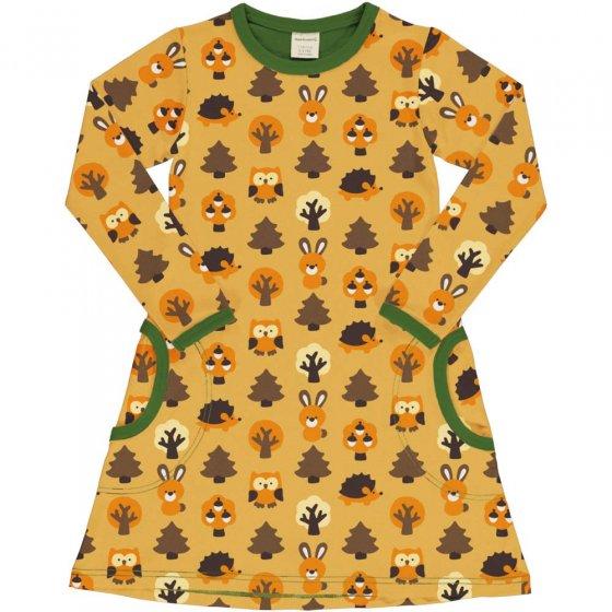 Maxomorra Yellow Forest LS Dress