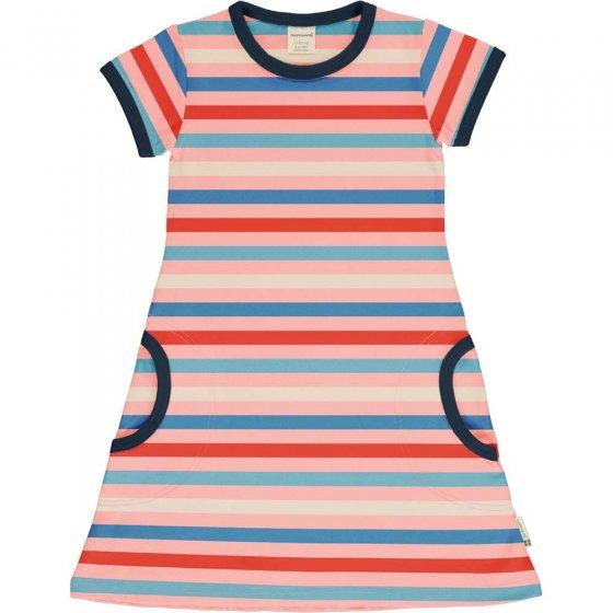 Maxomorra Blossom Stripe SS Dress