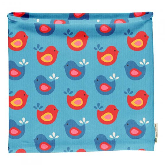 Maxomorra Bright Birds Scarf Tube