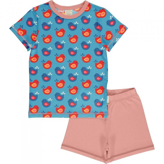 Maxomorra Bright Birds SS Pyjamas