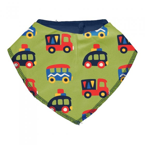Maxomorra Colourful Cars Dribble Bib